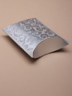 Silver glitter pillow gift box (Code 2371)